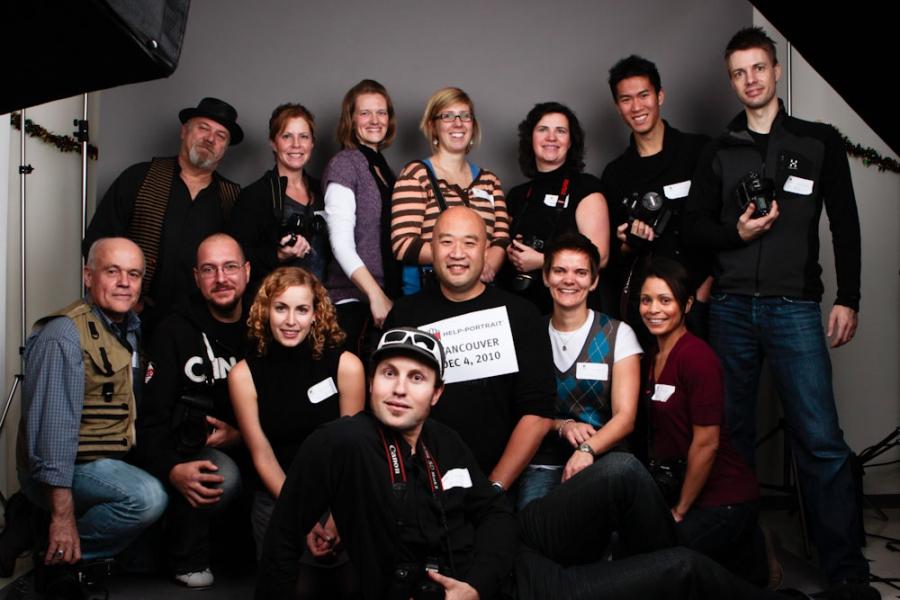 2010 Help-Portrait Vancouver Morning Crew
