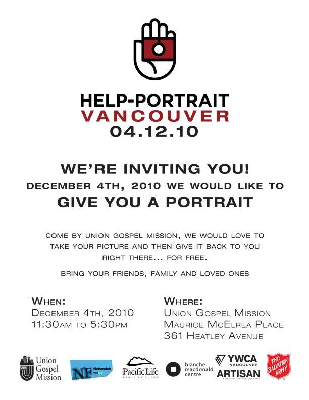 Help Portrait Vancouver 2010 Location