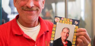 Portrait made into Xmas card from dad. #helpportra...